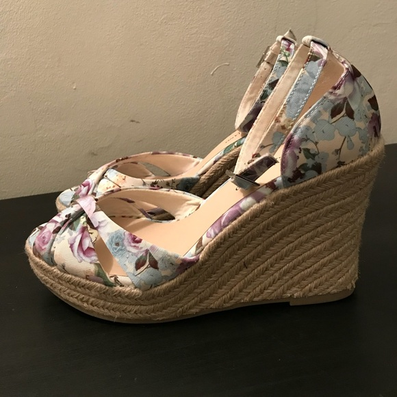 5ec17f0bc985 Payless shoes christian siriano for floral wicker wedges poshmark jpg  580x580 Payless shoes wedges